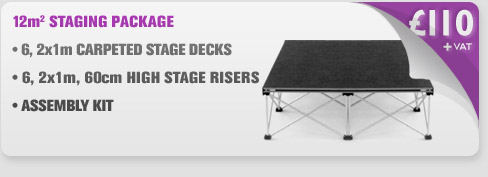 12m Sq Portable Stage Package