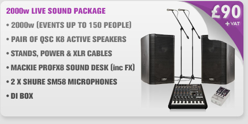 2000w Live Sound PA Package