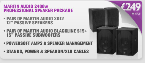 Martin Audio 2400w - XD12 Mid Top & S15+ Subwoofer Package