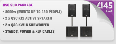 QSC K12 and KW181 Speaker & Subwoofer Package