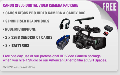 Canon XF305 Digital Video Camera Package (Free With LSH Spaces Booking Deal)