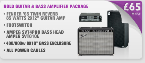 Gold Guitar & Bass Amplifier Package