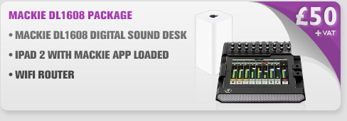 Mackie DL1608 Digital iPad Sound Desk Package