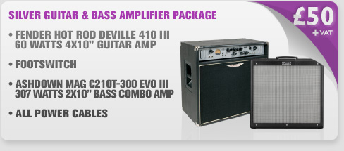 Silver Guitar & Bass Amplifier Package