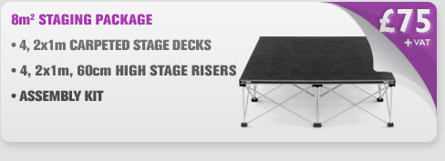 8m Sq Portable Stage Package