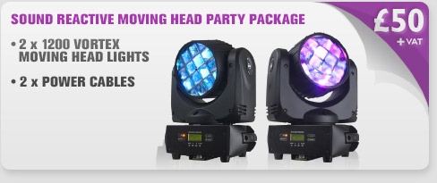 Sound Reactive Moving Head Party Package